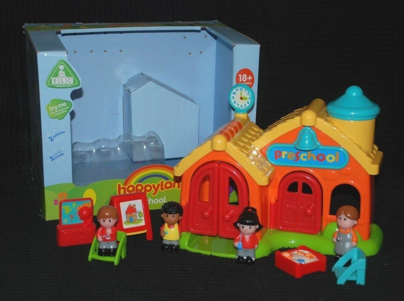 ELC HAPPYLAND PRESCHOOL Set with Sounds inc Accessories & Figures in ...
