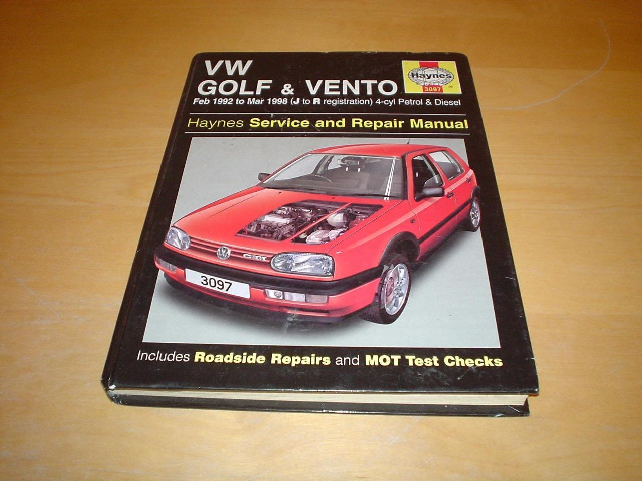 Haynes VW GOLF Mk3 GTI CABRIOLET VENTO JETTA Owners Workshop Manual Handbook  1 of 7Only 1 available ...