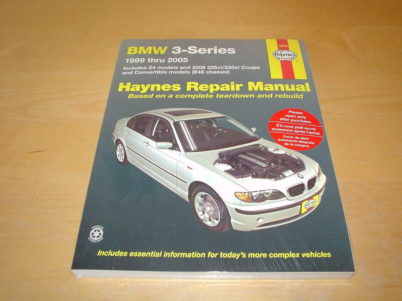 Haynes BMW 3 SERIES Z4 Owners Service Repair Workshop Handbook Manual Book  E46 1 of 4FREE Shipping ...