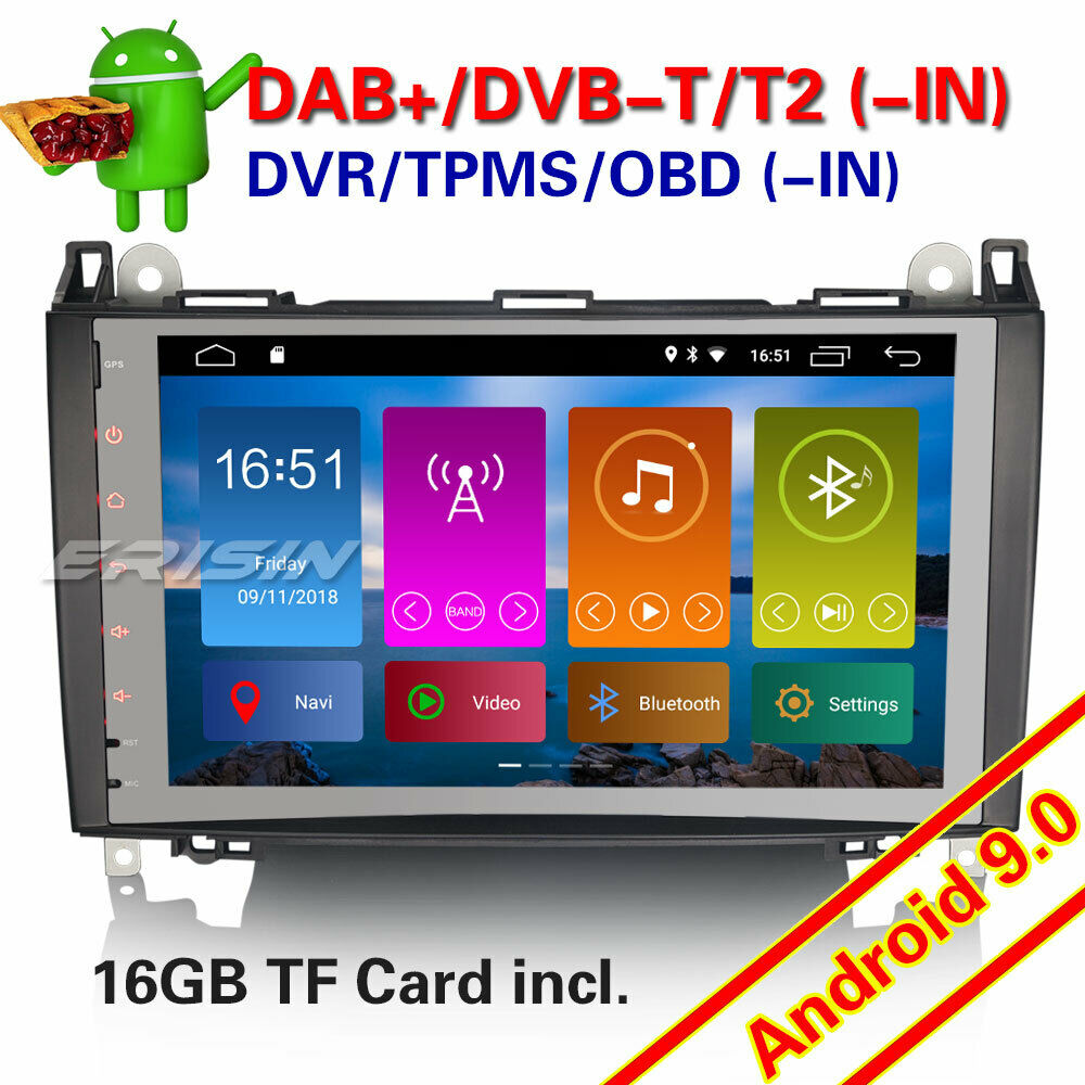 9 android 8 1 dab autoradio gps mercedes benz a b class. Black Bedroom Furniture Sets. Home Design Ideas