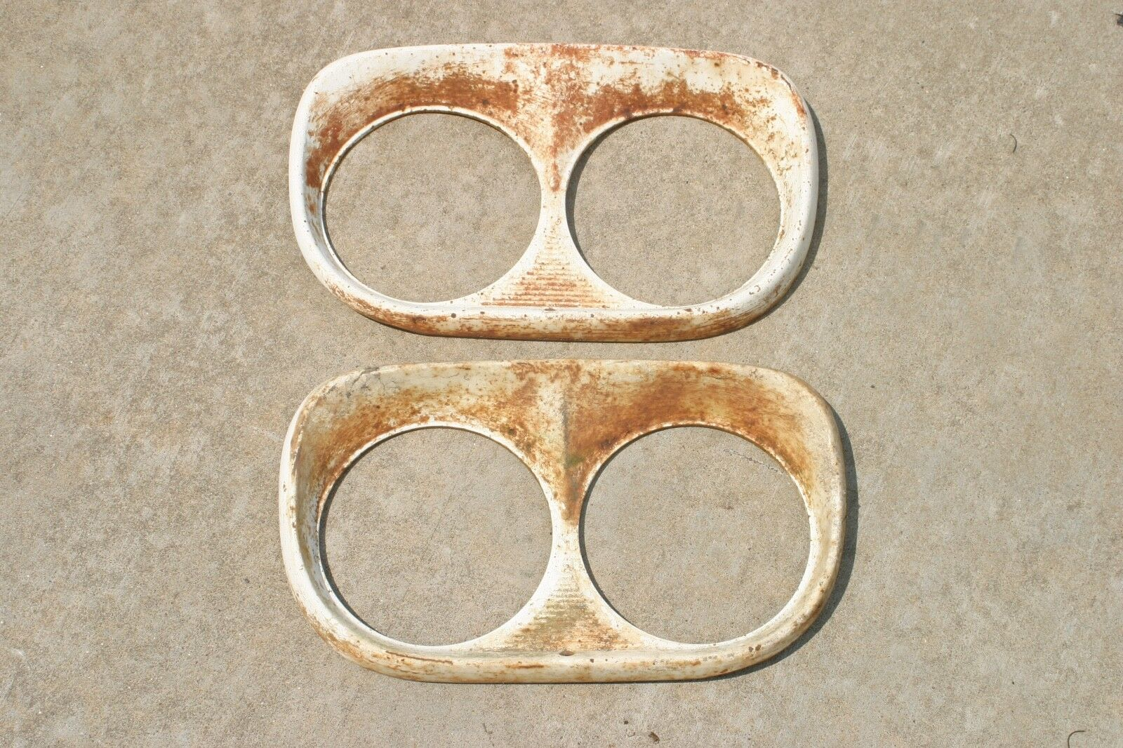 1958 1959 Ford F100 Pickup Truck Headlight Bezels Rings Pair Oem 1960 Wiring Harness 1 Of 8only Available