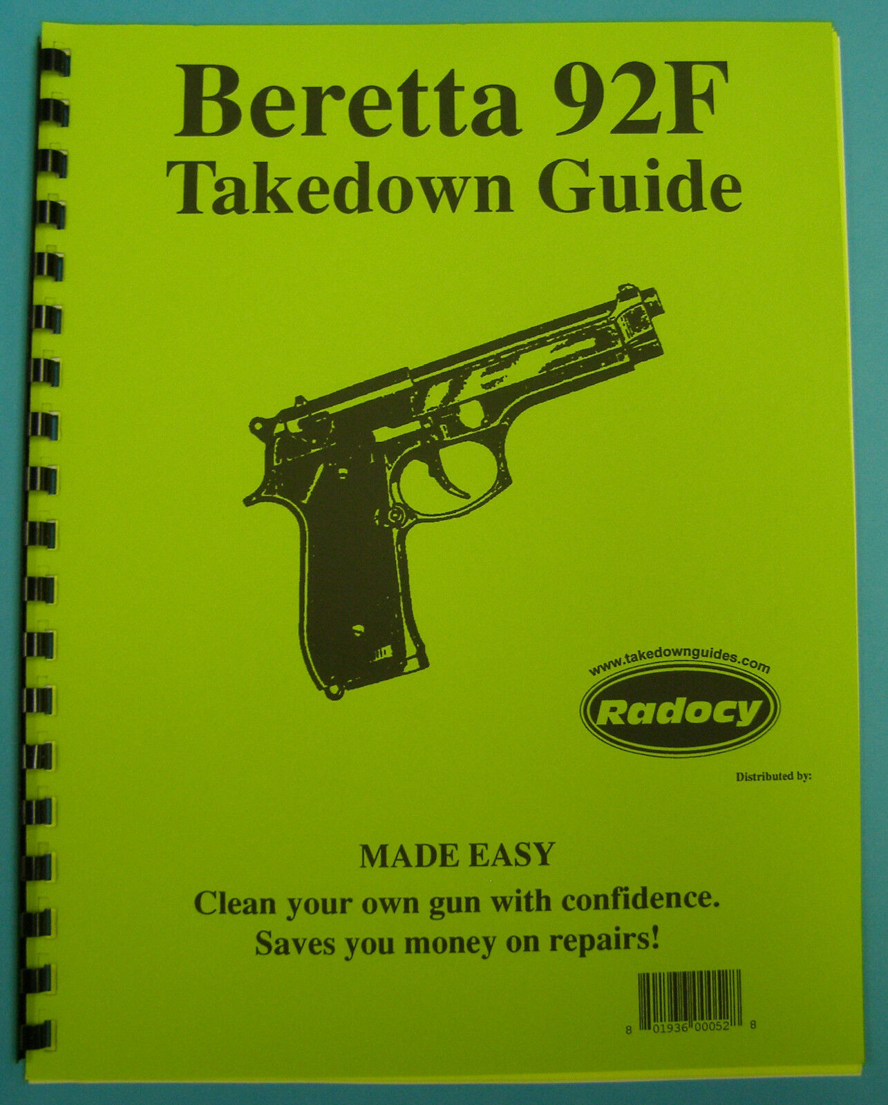 Beretta 92f In Full Color Takedown Disassembly Assembly Guide