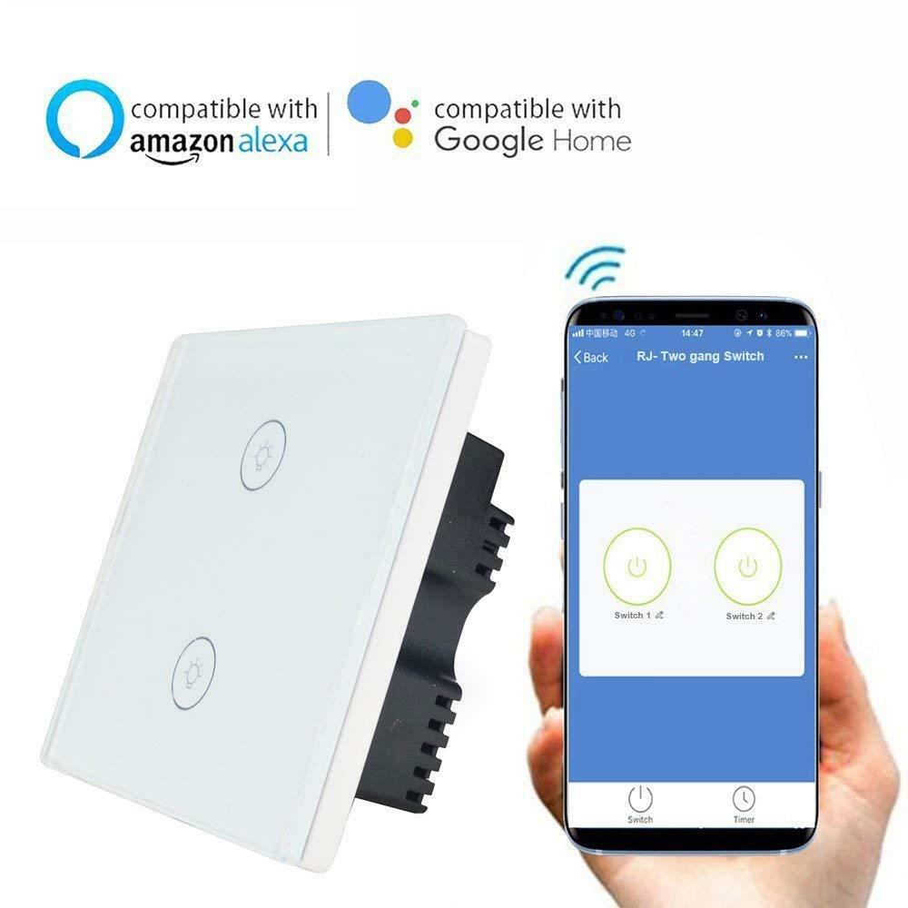 Knaclean Smart Wifi Touch Switch No Hub Required Via App Ewelink 1 Gang 2 Wire 10a Neutral Presence Detector Timer Wireless Of 9only Available