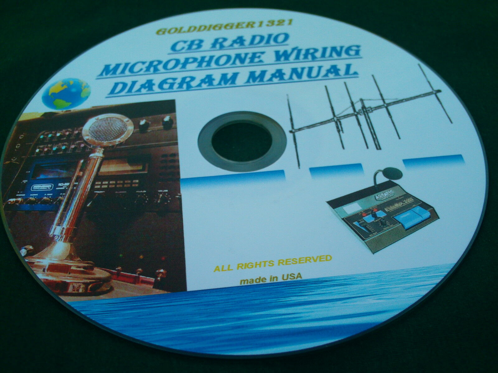 Cb Radio Microphone Wiring Diagram Manual On Cd 995 Picclick Uniden Mic 1 Of See More