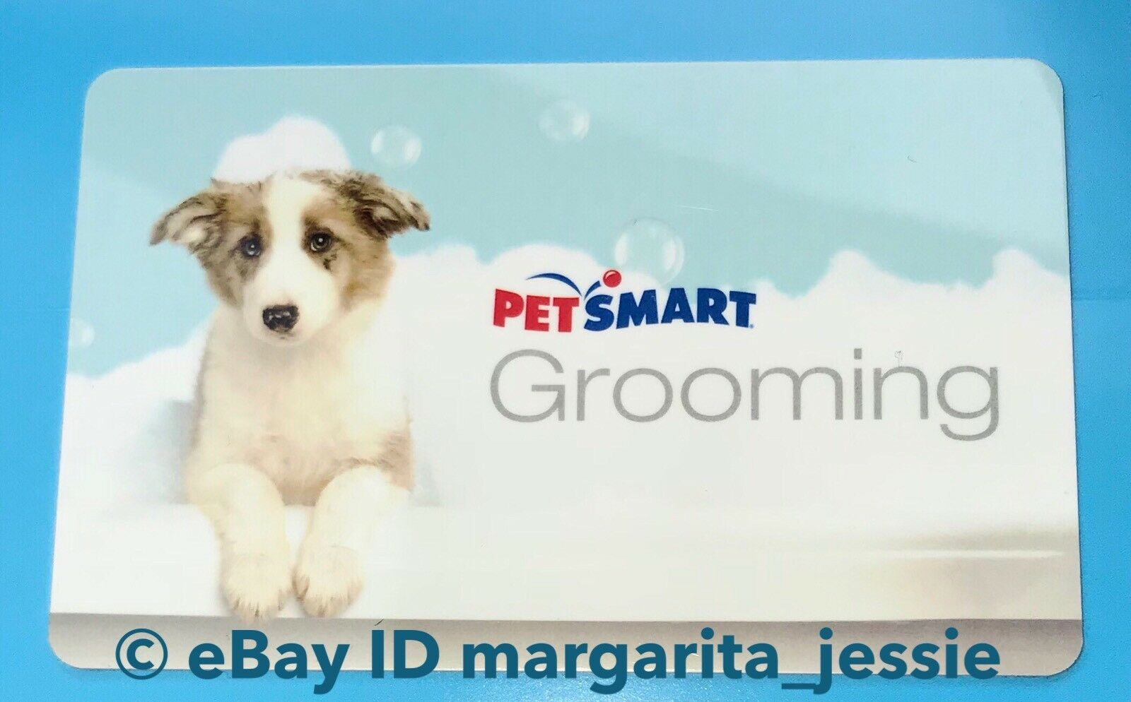 PETSMART GIFT CARD No Value Grooming Dog Taking Bubble Bath ...