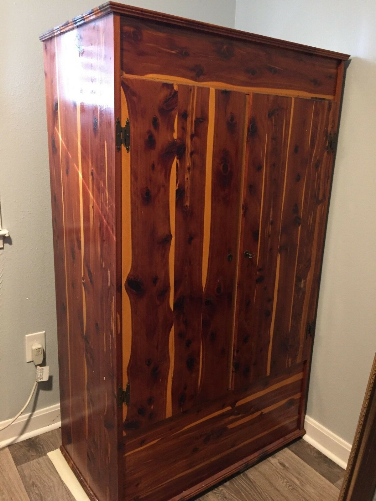 Delicieux Vintage Solid Cedar Wardrobe, Closet, Cabinet, Armoire 1 Of 2Only 1  Available ...