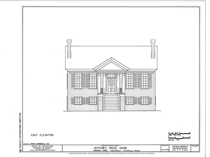 Virginia palladian house plans detailed blueprints for Detailed house plans