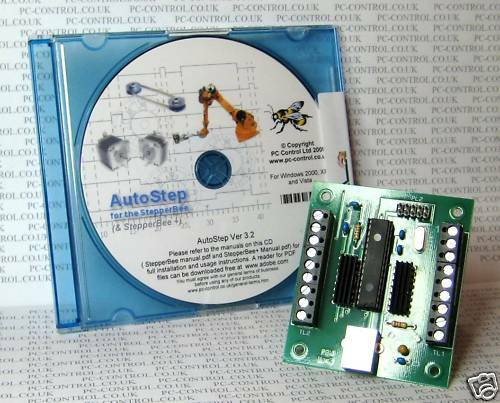 stepperbee stepper motor control from a pc 39 s usb port