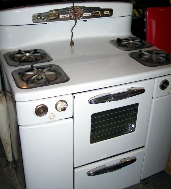Vintage Tappan Deluxe Gas Stove Needs Restoration 350