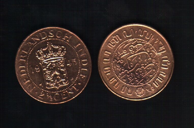 Netherlands east indies 2 1 2 cents km316 1945 indonesia for 1945 dutch east indies cuisine