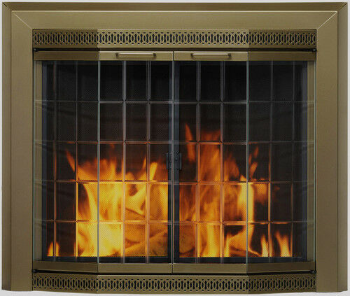 fireplace glass doors pleasant hearth grandior bay 1 of 1