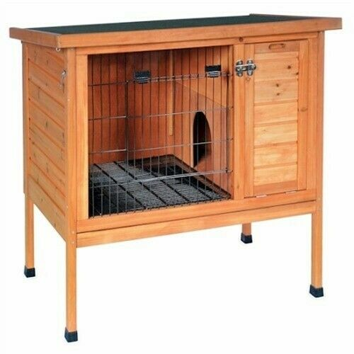 NEW SMALL WOOD BUNNY RABBIT & GUINEA PIG HUTCH PET CAGE PEN HOUSE