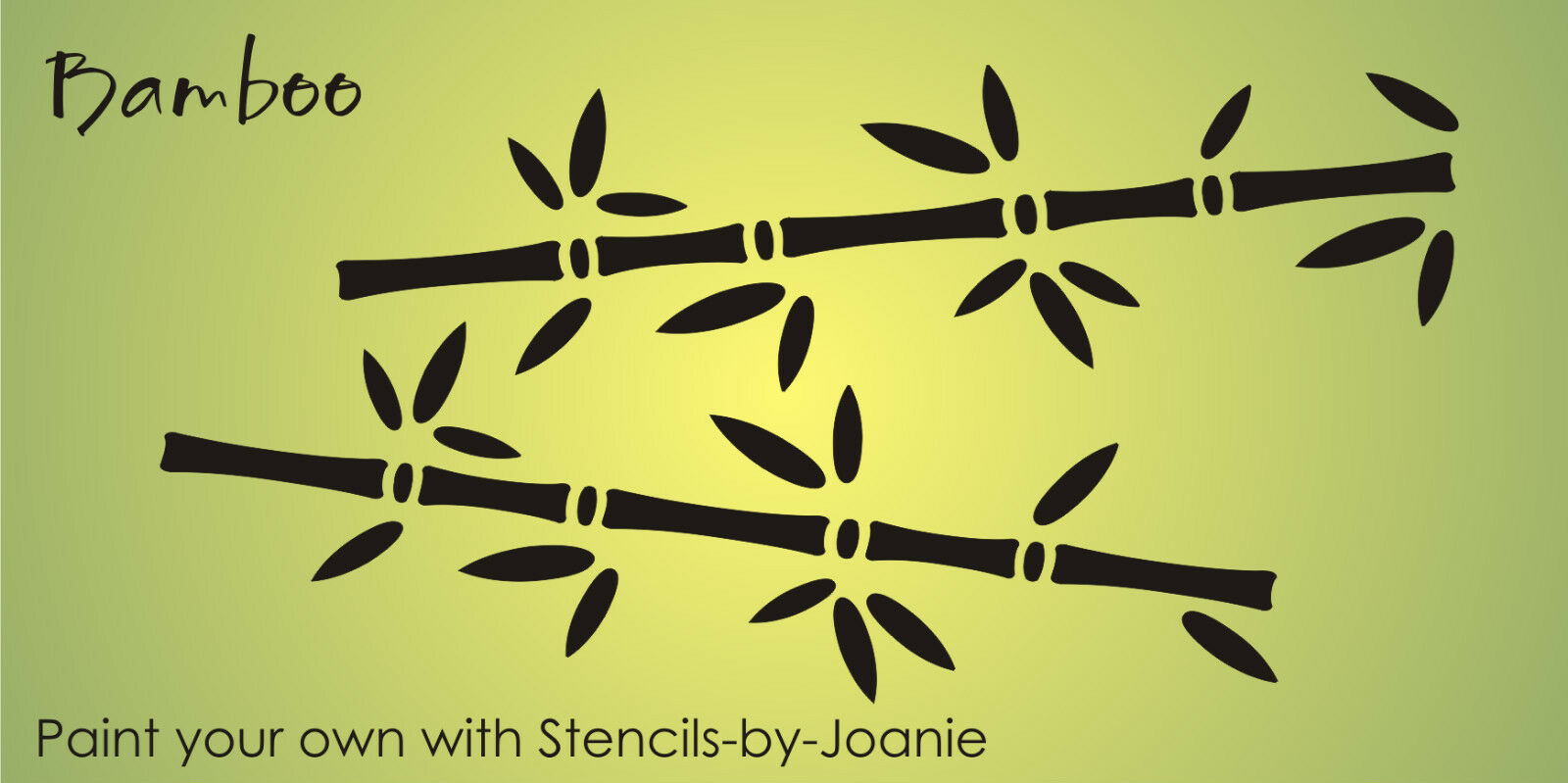 Lg bamboo stencil asian oriental plant tree design border wall art home signs picclick - Oriental stencils for walls ...