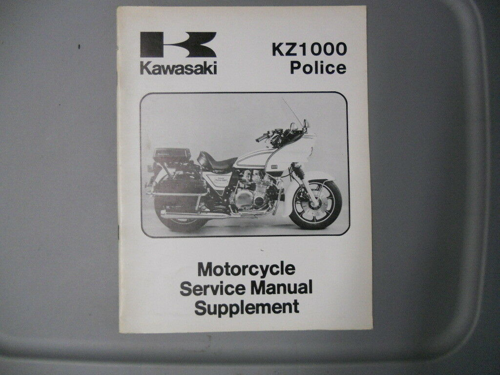 Kawasaki Factory Service Repair Shop Manual Supplement 1981 KZ1000 C4 1 of  1Only 1 available ...