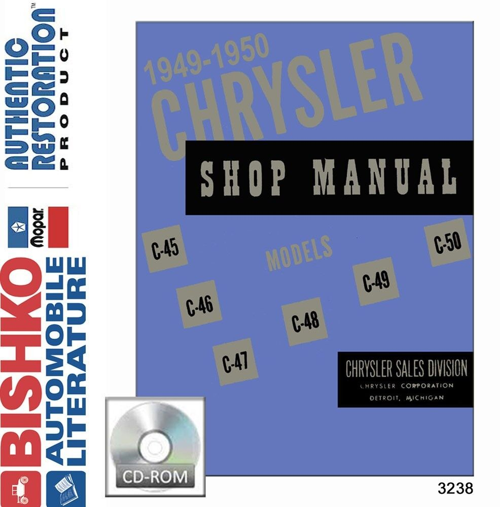 1949 1950 Chrysler Town & Country Windsor Shop Service Repair Manual CD OEM  1 of 1Only 1 available See More