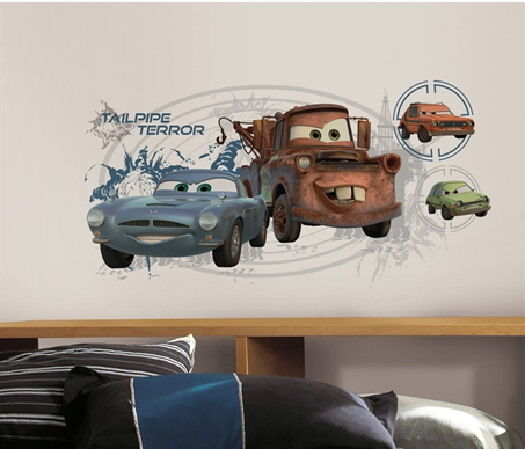 Cars 2 mater finn mcmissile giant wall decals with for Cars 2 wall mural