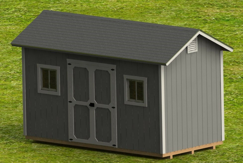 16' Garden Shed Detailed Building Plans