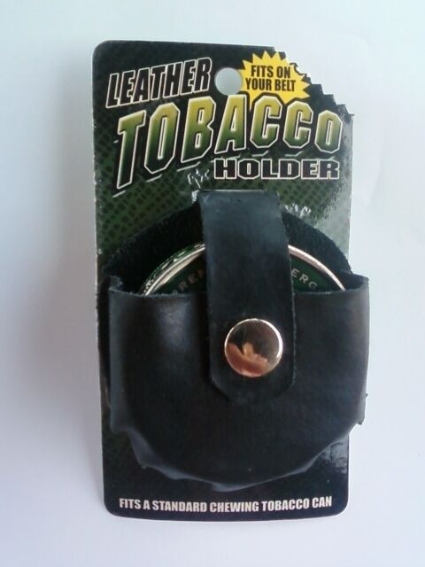Leather Chew Chewing Tobacco Pouch Snuff Snus Can Case Belt Holder Pouch
