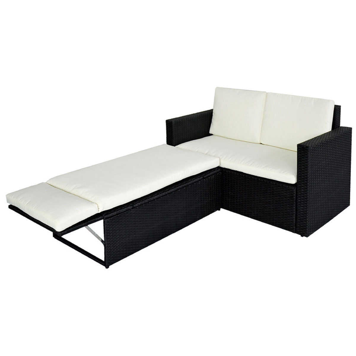 poly rattan lounge schwarz sofa garnitur polyrattan sitzgruppe gartenm bel eur 139 90 picclick de. Black Bedroom Furniture Sets. Home Design Ideas