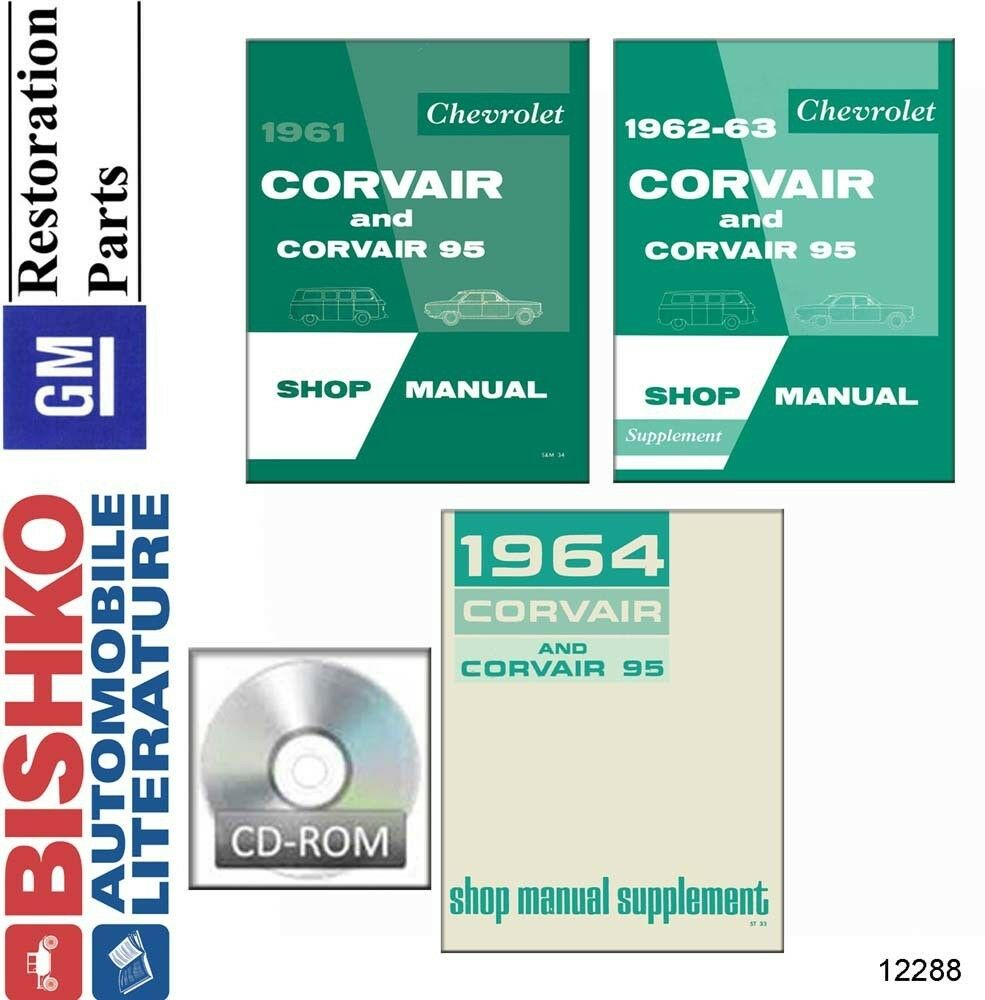 1961 1962 1963 1964 Chevrolet Corvair Shop Service Repair Manual Cd Chevy Wiring Diagram Reprint Impala Ss Bel Air Biscayne 1 Of 1only Available