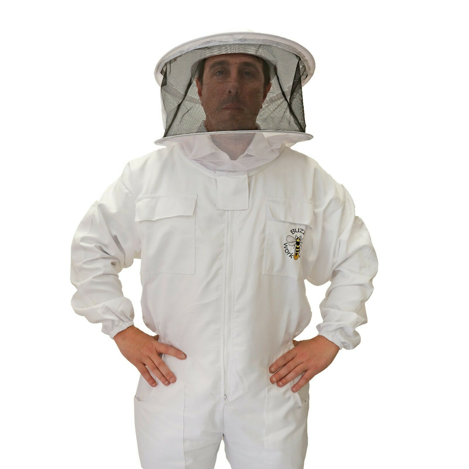 BUZZ Beekeeping bee suit - MEDIUM with round hat and twin hoop veil