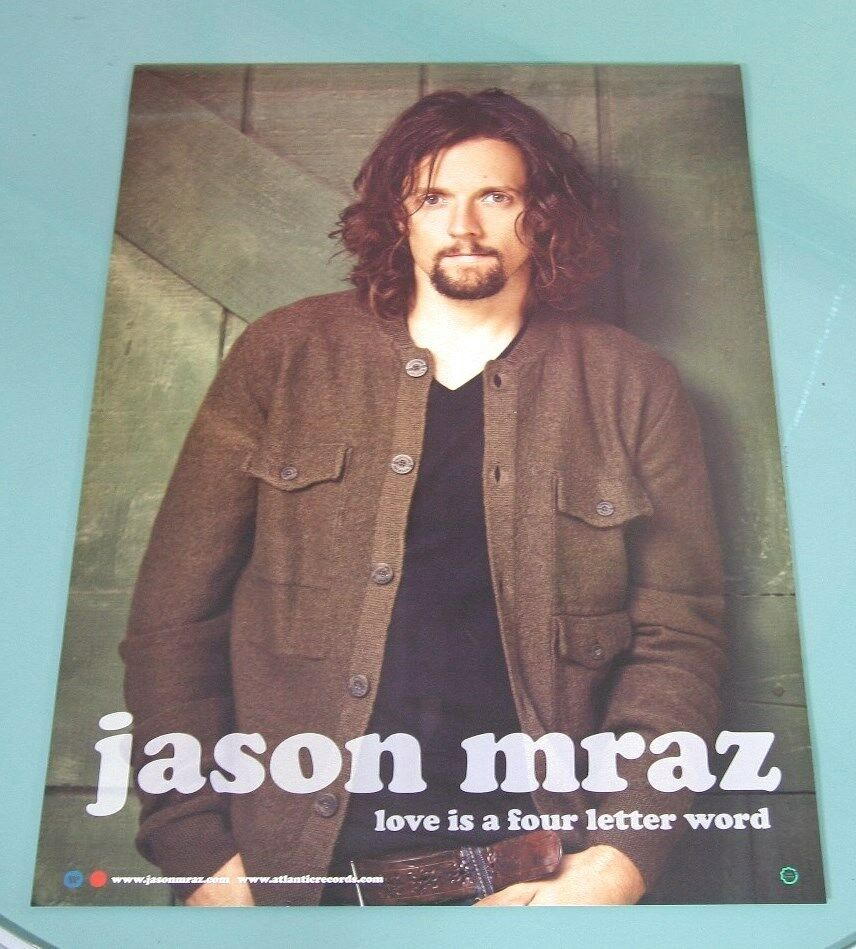 Jason Mraz Love Is A Four Letter Word Official Poster Hardtube