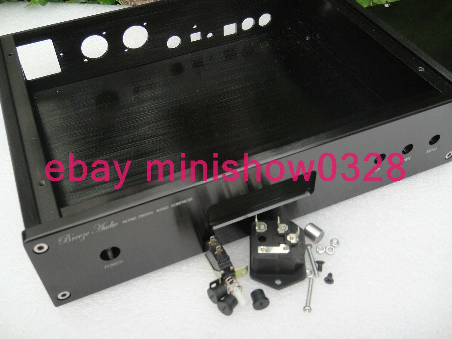 Aluminium dac chassis enclosure case w lcd diaplay for for Chassis aluminium
