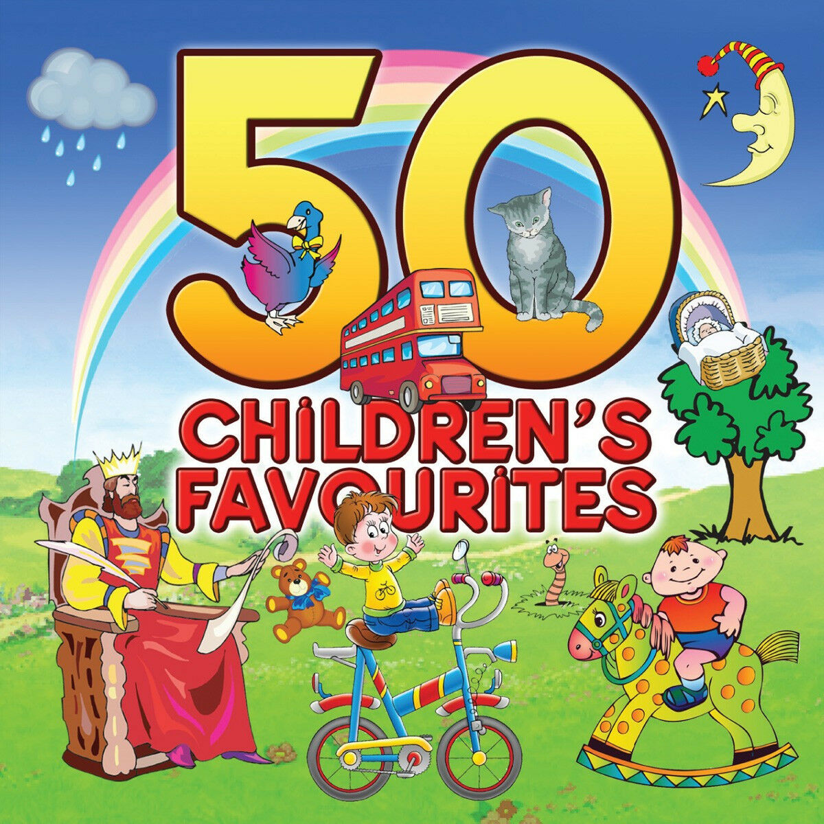 50 Children S Favorites Childrens Songs Best Kids Music Nursery Rhymes New 2 Cd 1 Of See More