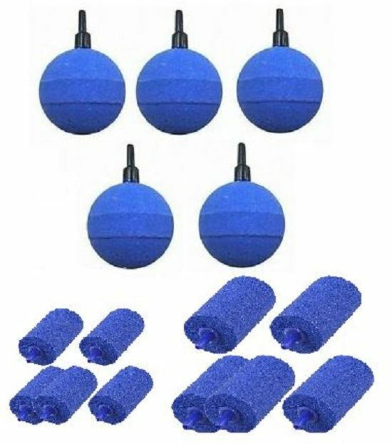 Aquarium and Pond Round Ball or Cylinder Air Stones for Air Pump Fish Tank