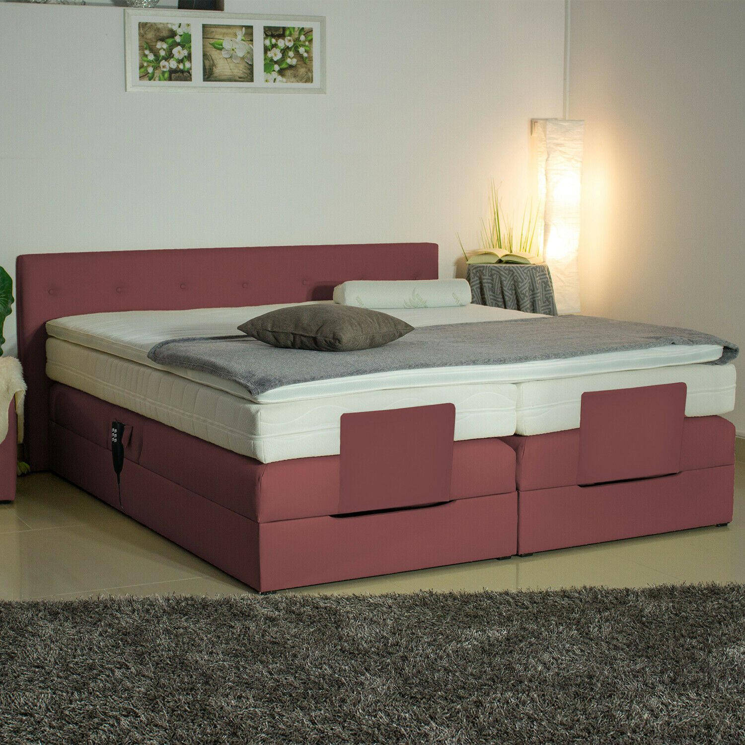boxspringbett motor verstellbar direkt ab fabrik elektrisch mit farbwahl 200 eur 778 00. Black Bedroom Furniture Sets. Home Design Ideas