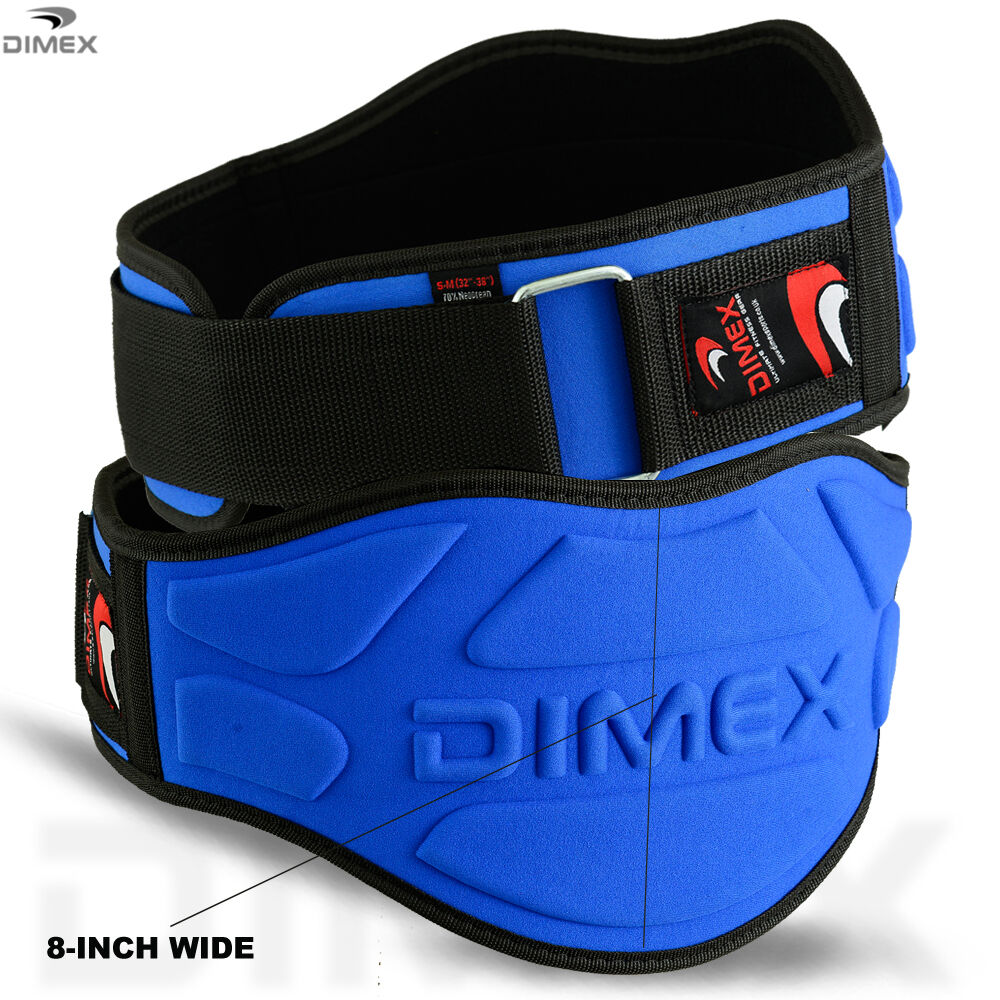 """Neoprene Weight Lift Training Workout Gym Palm Exercise: WEIGHT LIFTING BELTS Fitness Gym Workout Neoprene 8"""" Wide"""