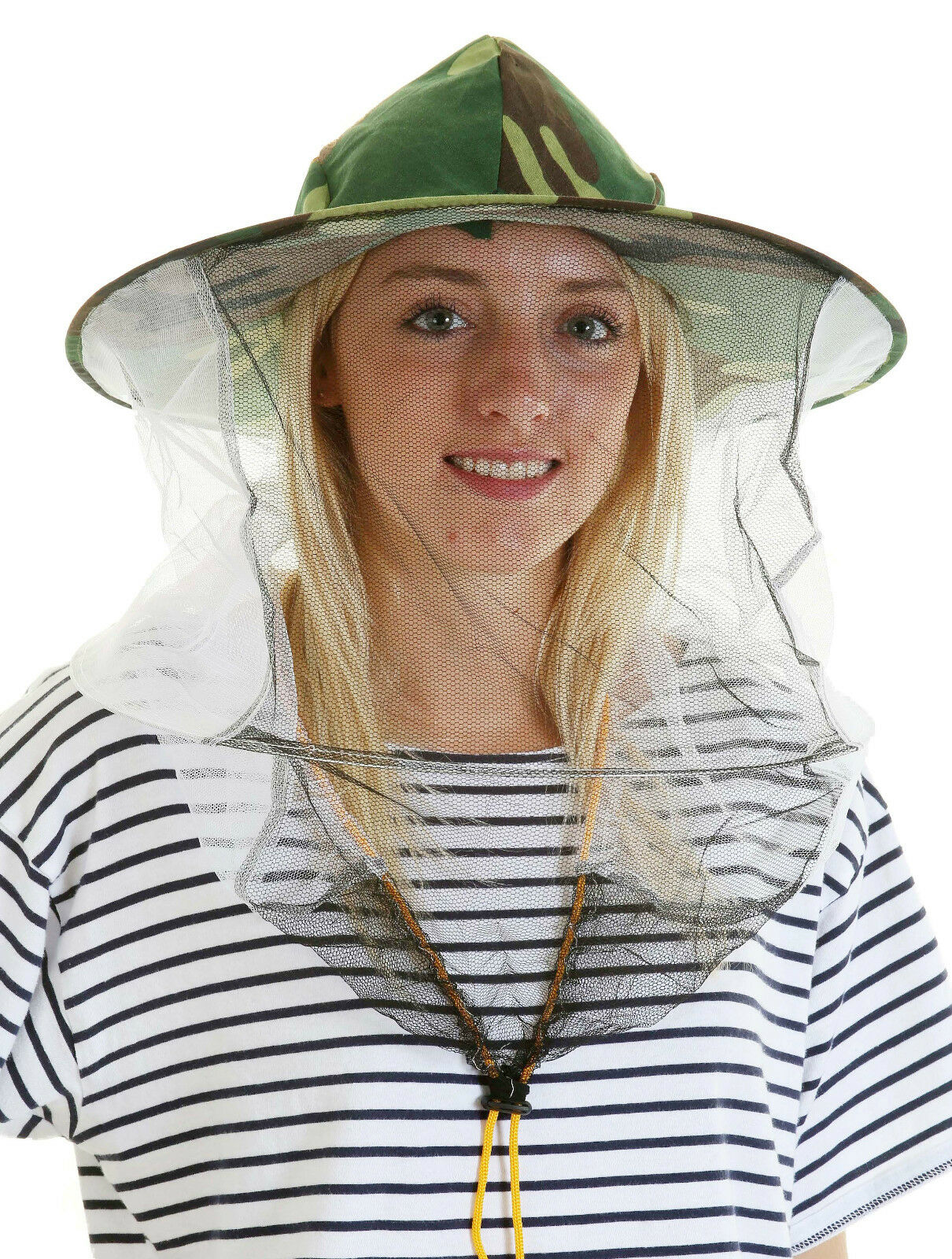 5 x Beekeeping CAMOUFLAGE BEE HAT AND VEILS - Double hoop and toggle