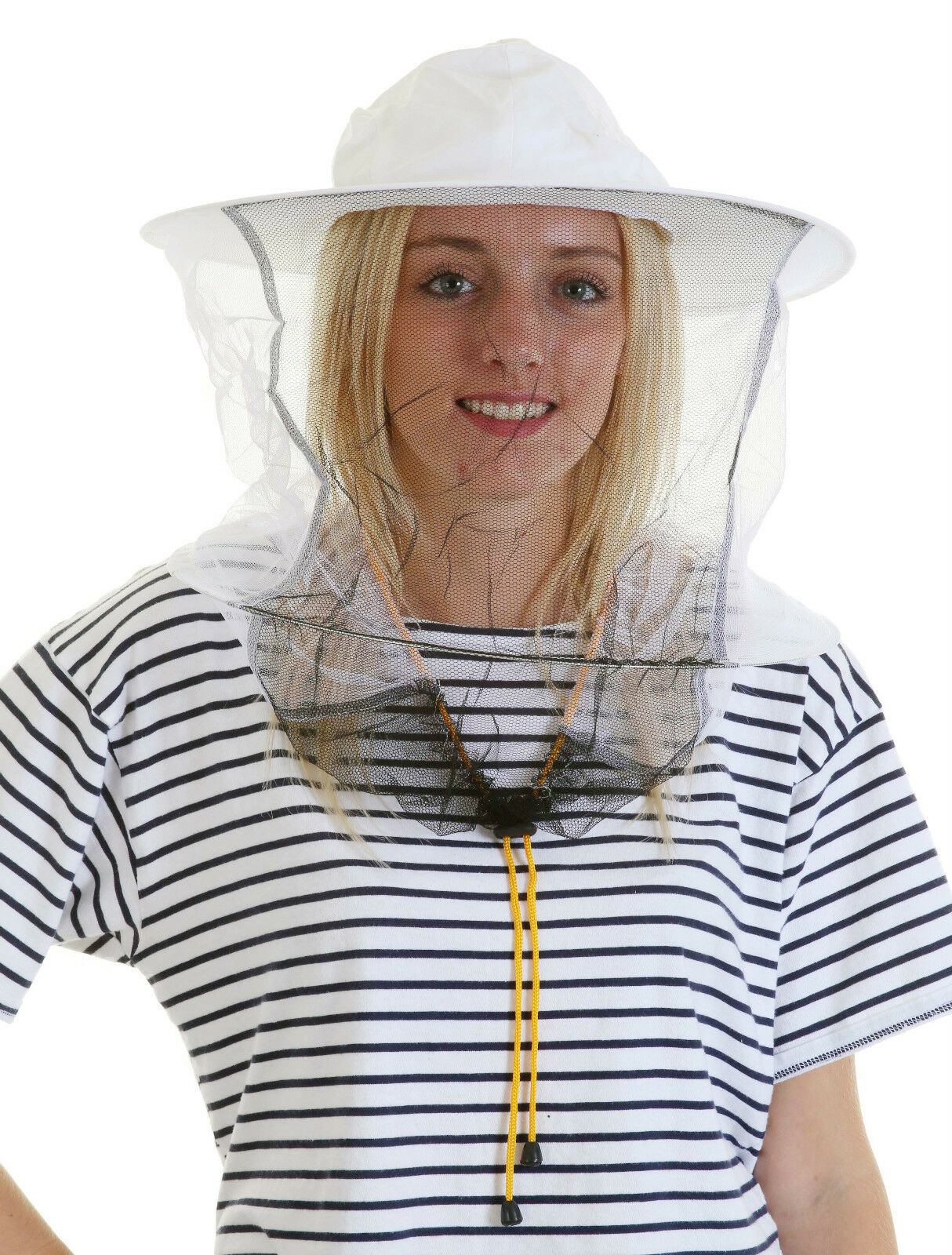 Beekeeping White cotton bee hat and Veils TOGGLE