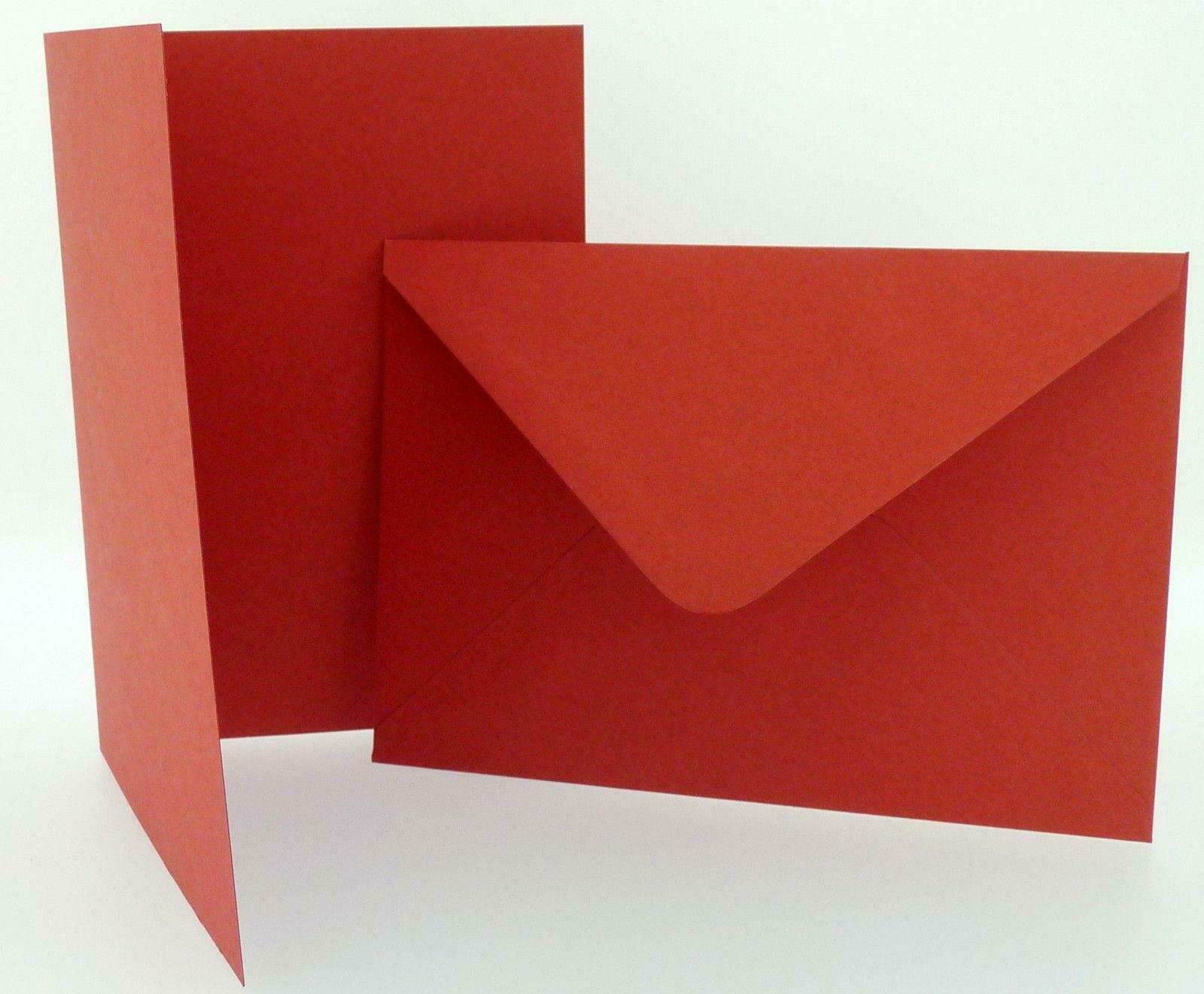 PACK OF CRAFT UK Red Blank Christmas Cards Envelopes 4 x 4 5 x 7 6 x ...
