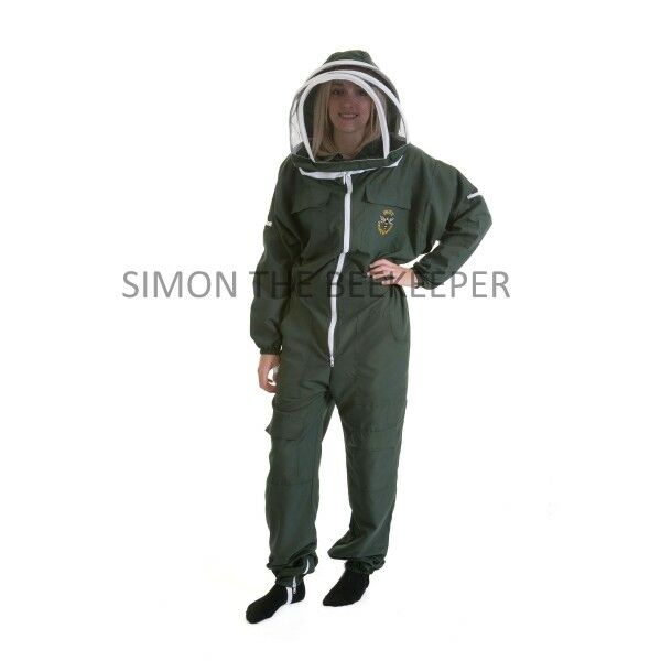 Lightweight BUZZ Beekeepers Bee suit - Colour Forest Green. Size: LARGE