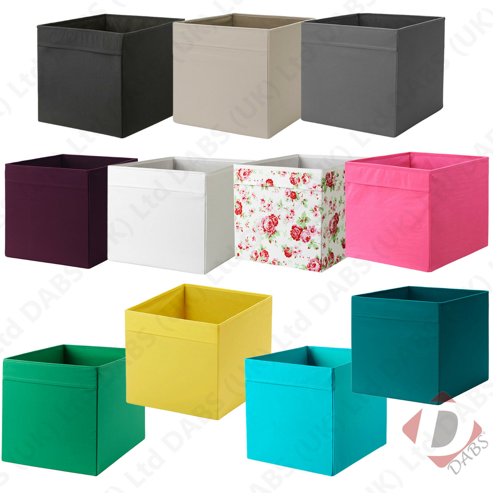 ikea drona fabric storage boxes fit expedit book shelf kallax shelving toy box eur 3 90. Black Bedroom Furniture Sets. Home Design Ideas