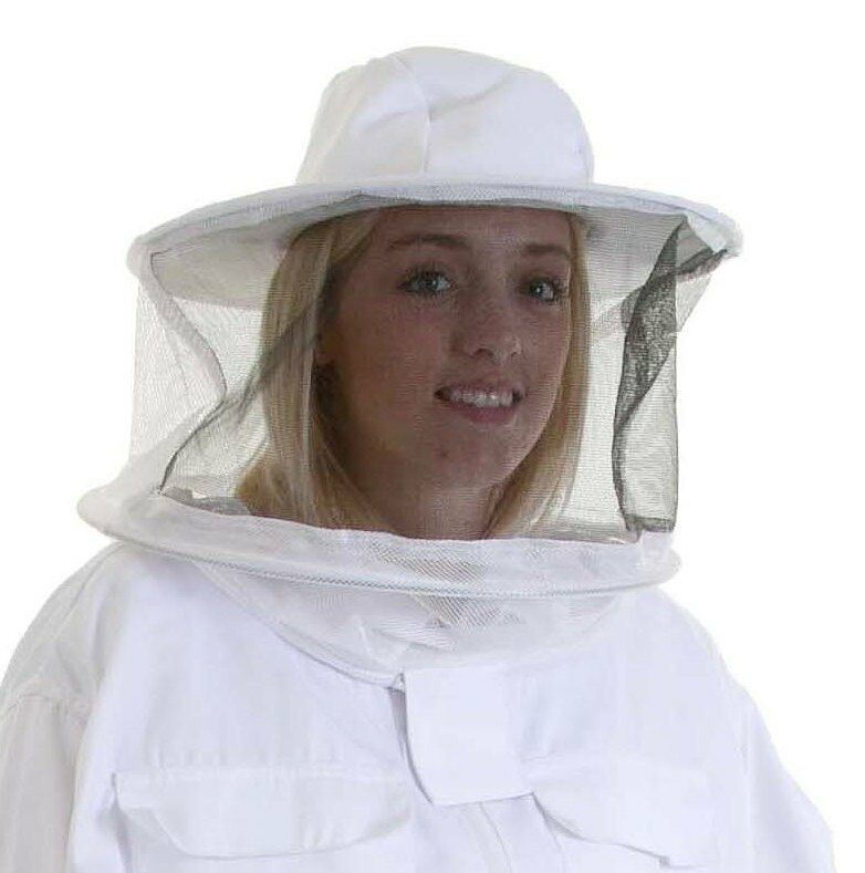 2 x Beekeepers SPARE ROUND BEE VEILS / HATS for Suits
