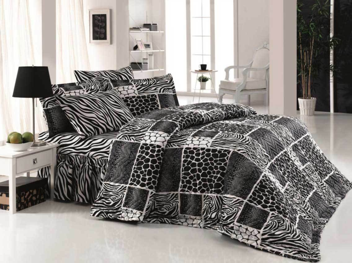 4 tlg bettw sche bettgarnitur baumwolle 200x220 cm safari. Black Bedroom Furniture Sets. Home Design Ideas