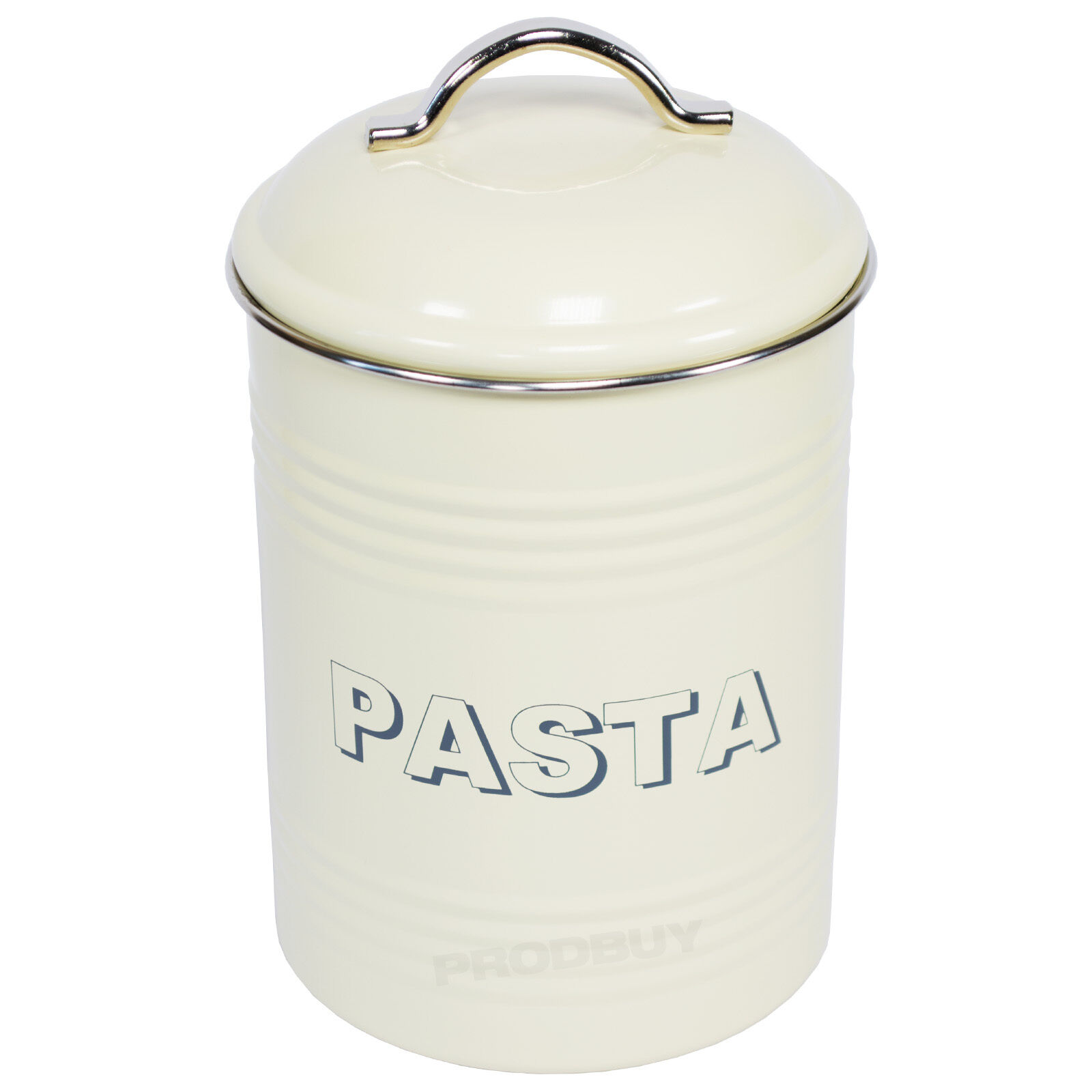 cream kitchen storage jars vintage style enamel 2 litre pasta jar retro 6283