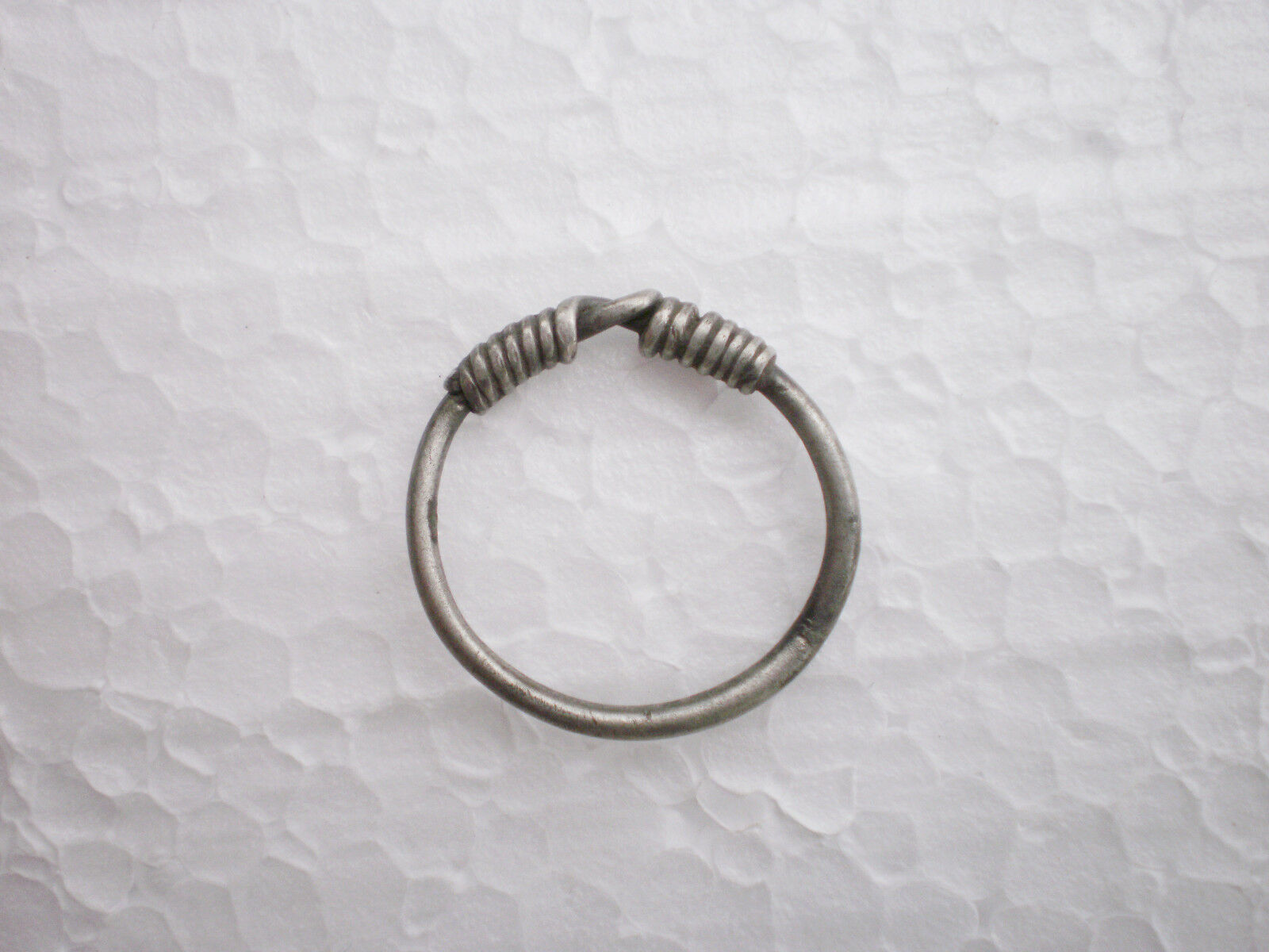 RARE ANCIENT Authentic Silver FINGER RING   Goths 3 - 4 century AD #