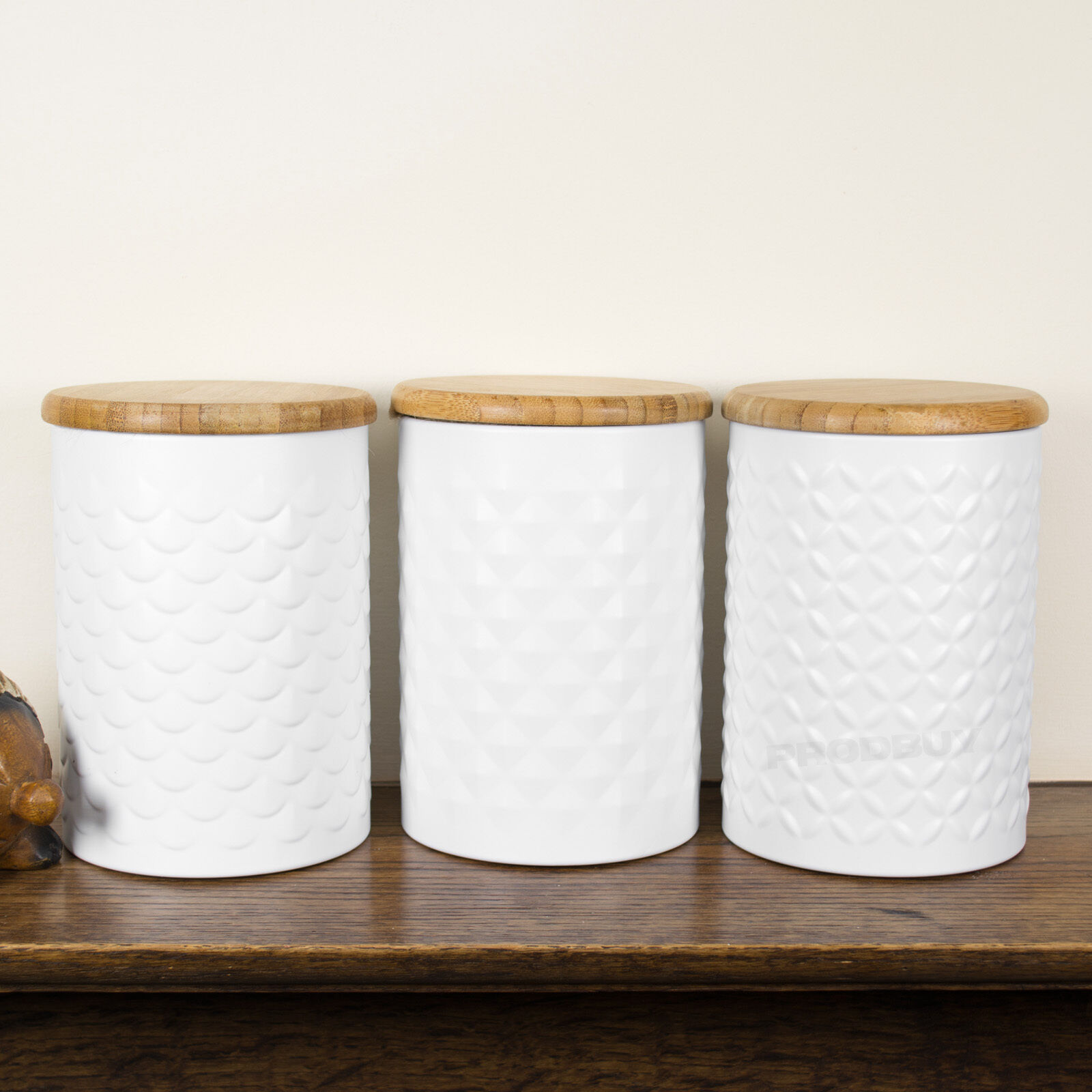Tea Coffee Sugar Canisters White Typhoon Imprima Food Kitchen Storage Tins Jars 1 Of 1only 3 Available