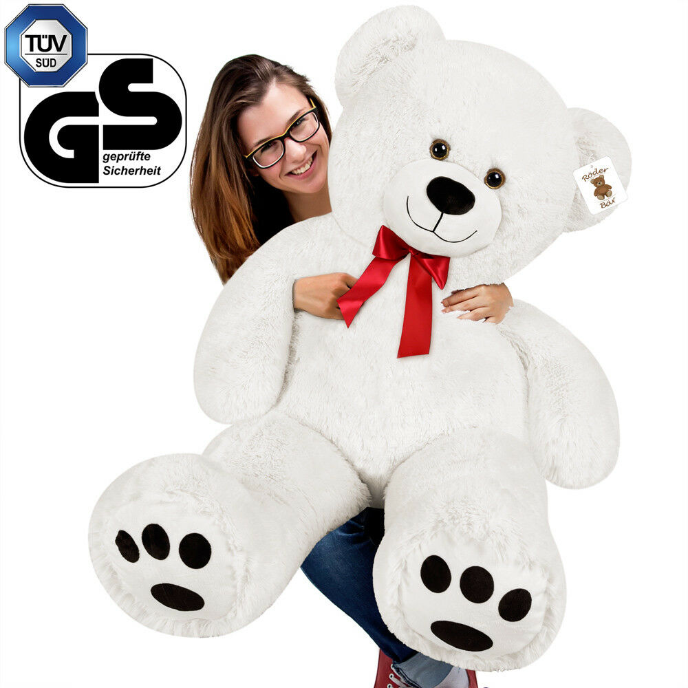 grand nounours ours en peluche g ant ourson xl teddy bear blanc eur 25 99 picclick fr. Black Bedroom Furniture Sets. Home Design Ideas