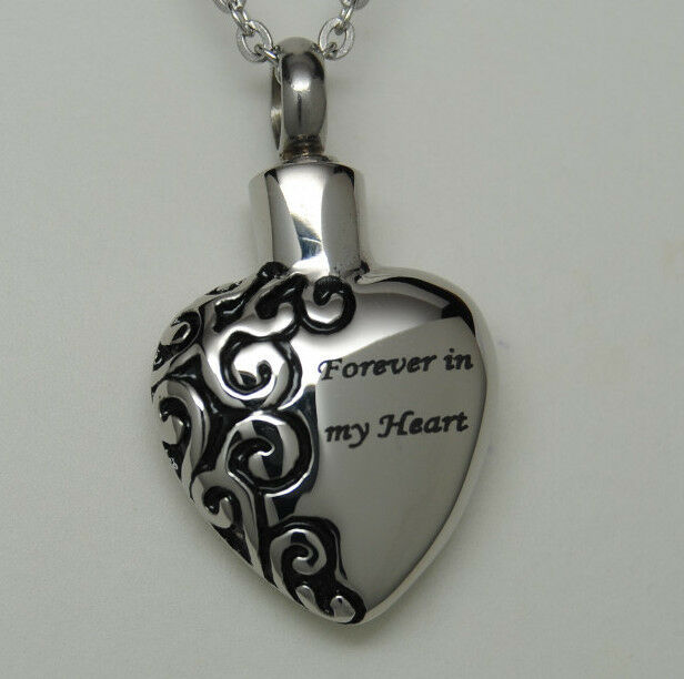 forever in my heart cremation jewelry urn necklace