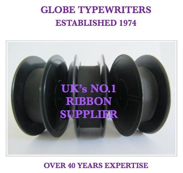 3 x 'OLYMPIA SM3/SM7 or SM9' *PURPLE* TOP QUALITY *10 METRE* TYPEWRITER RIBBONS
