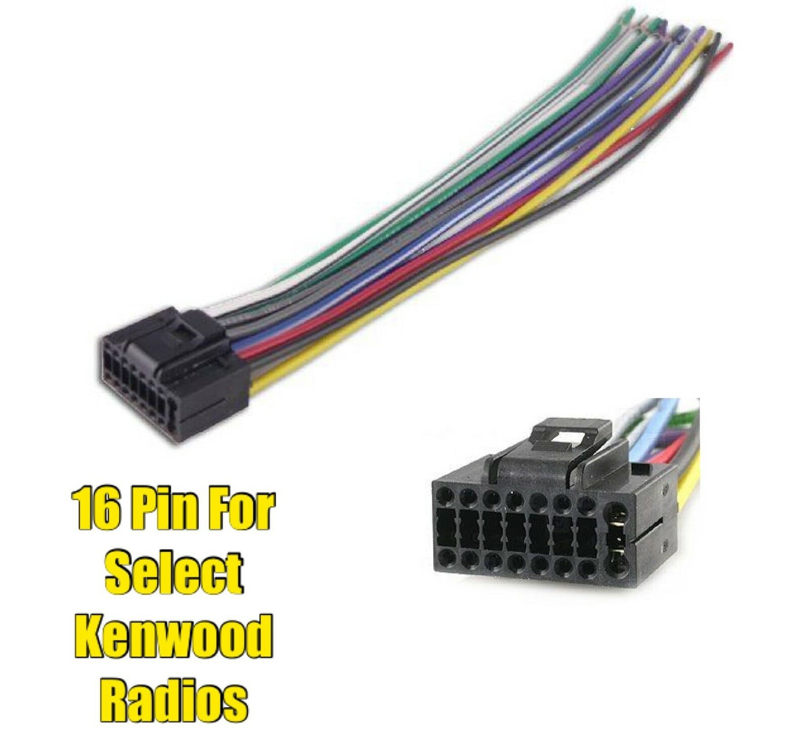 Car Stereo Radio Replacement Wire Harness Plug for select Kenwood 16 Pin  Radios 1 of 1 See More