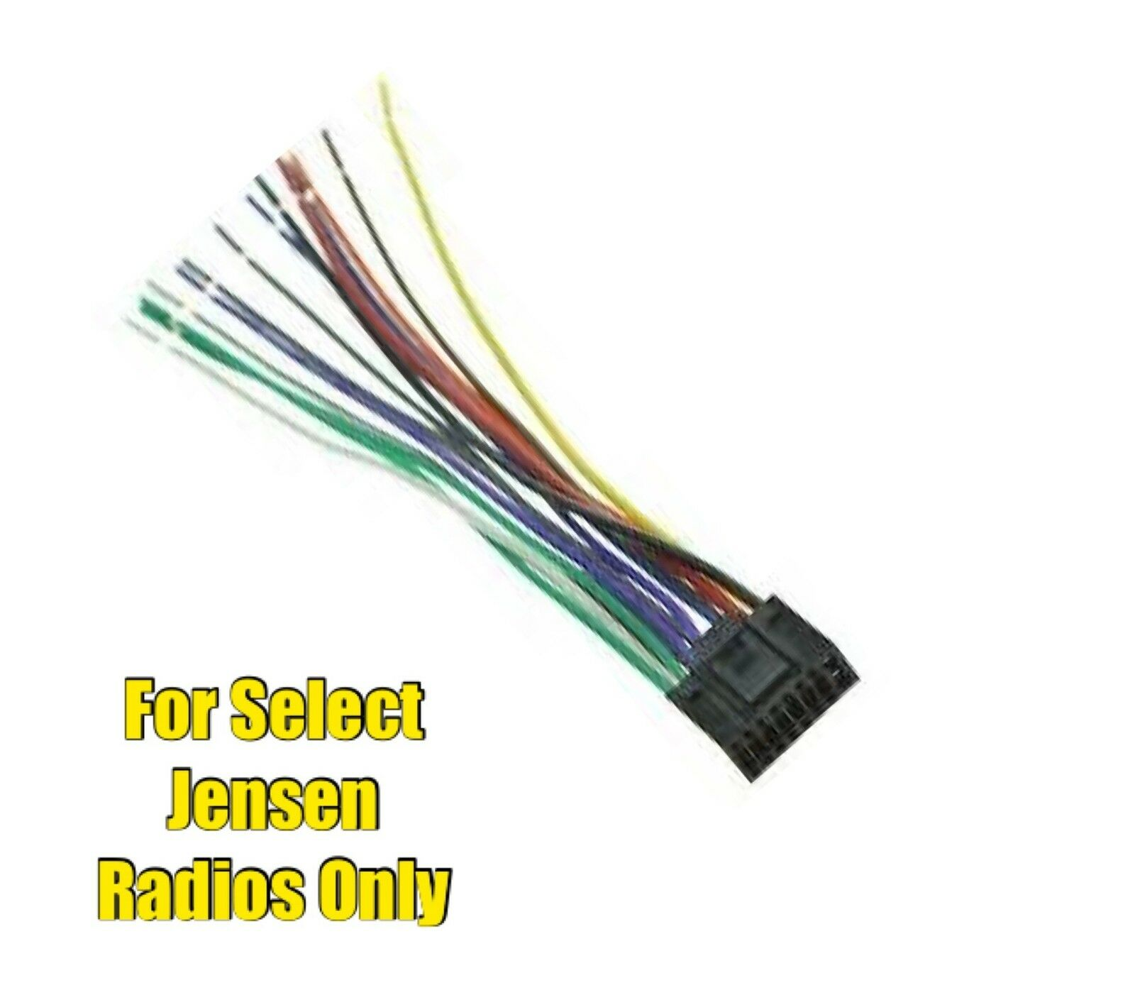 Jensen Replacement Wire Harness Wiring Library Pins Car Stereo Radio Plug For Select 16 Pin Radios