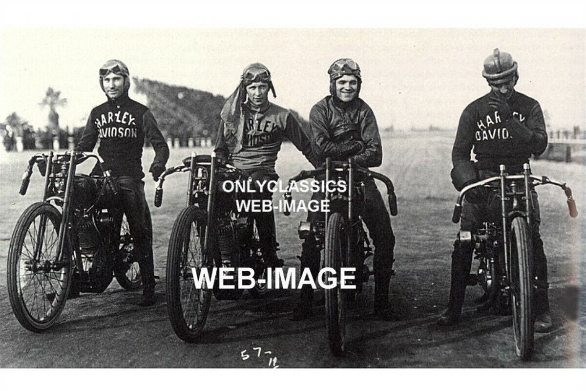 1919 HARLEY Davidson Motorcycle Racing Ascot Photo Factory ...