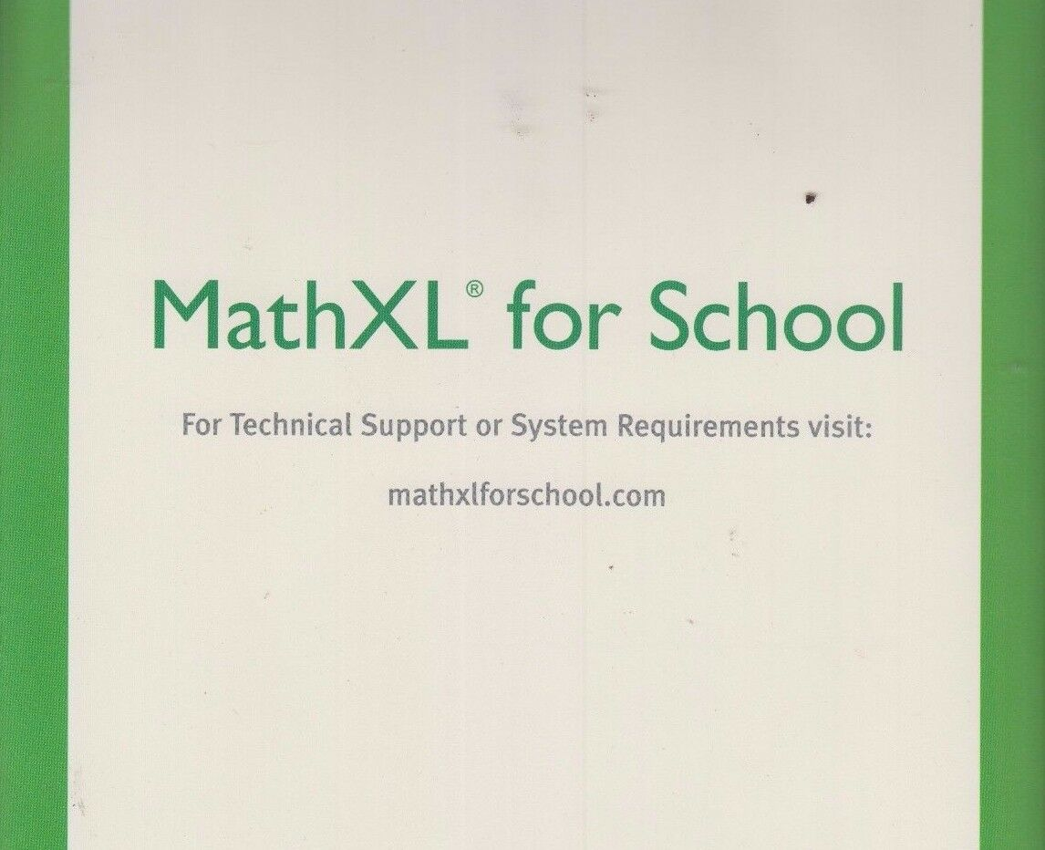 mathxl for school student access code kit 12 month access code new