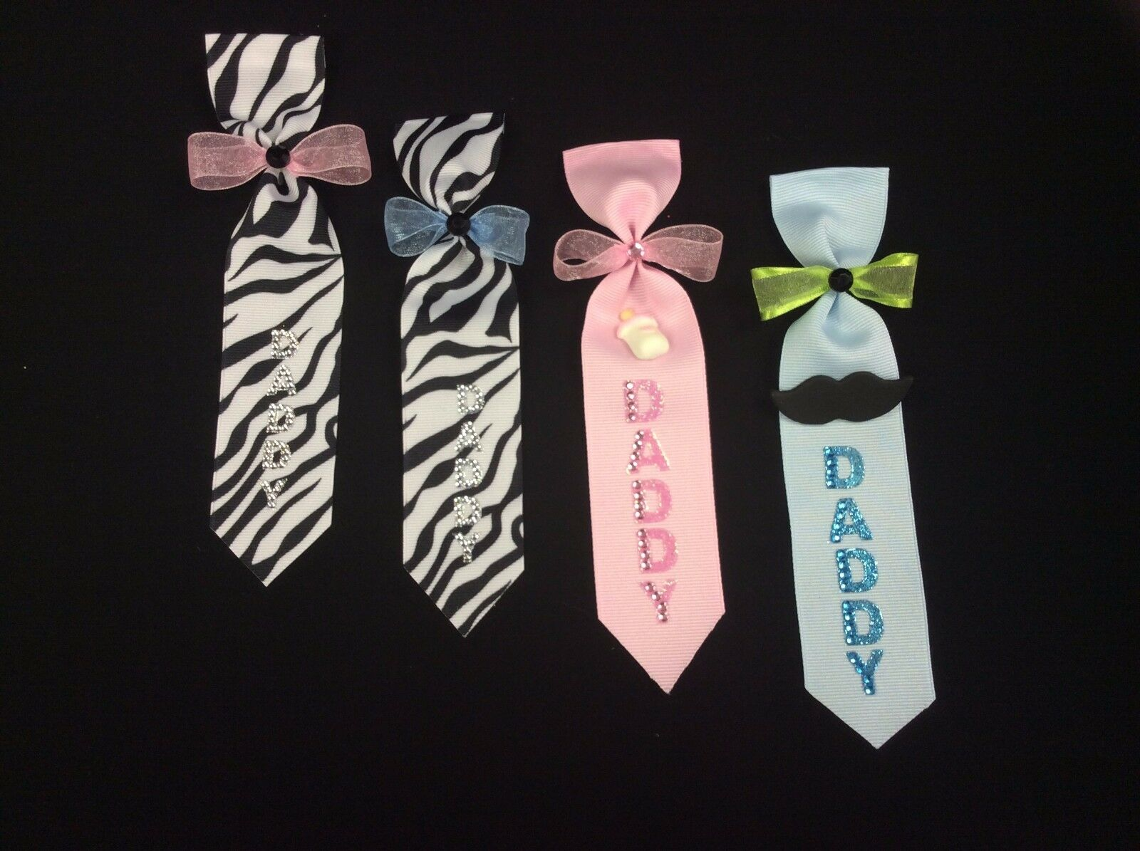 Daddy To Be Ties Baby Shower Pin Corsage Baby Girlboy