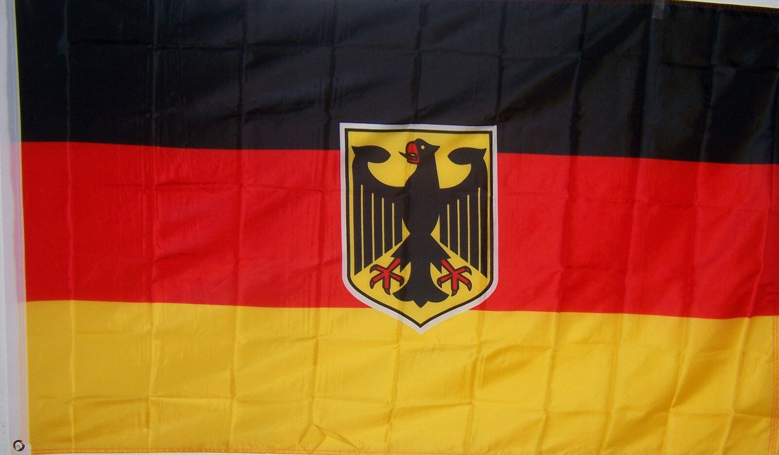 GERMANY GERMAN W/ EAGLE BANNER FLAG WITH BRASS GROMMETS ...